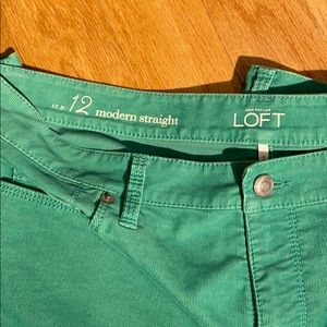 Loft modern straight pants in forest green